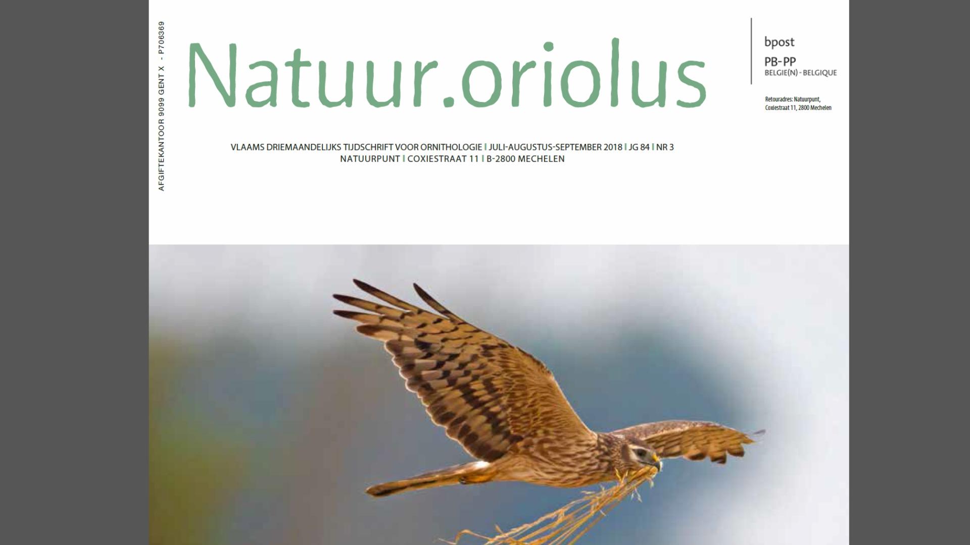 Natuur.Oriolus Akkervogels (2018)